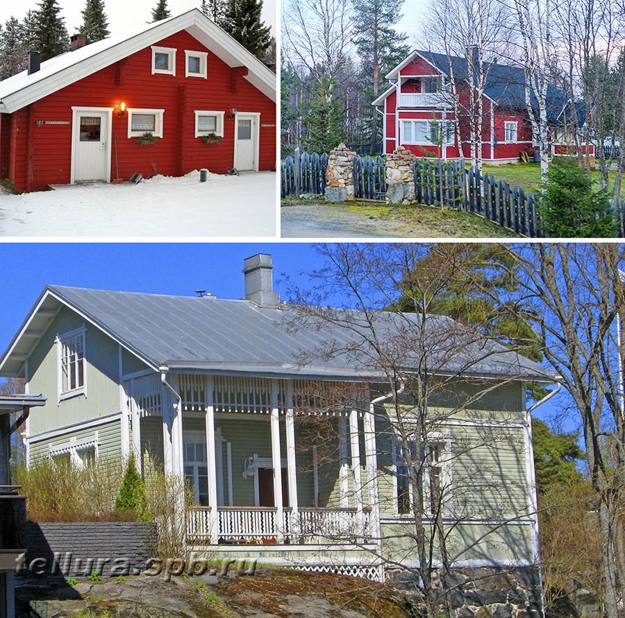 Красивые деревянные дома - во что красить фото