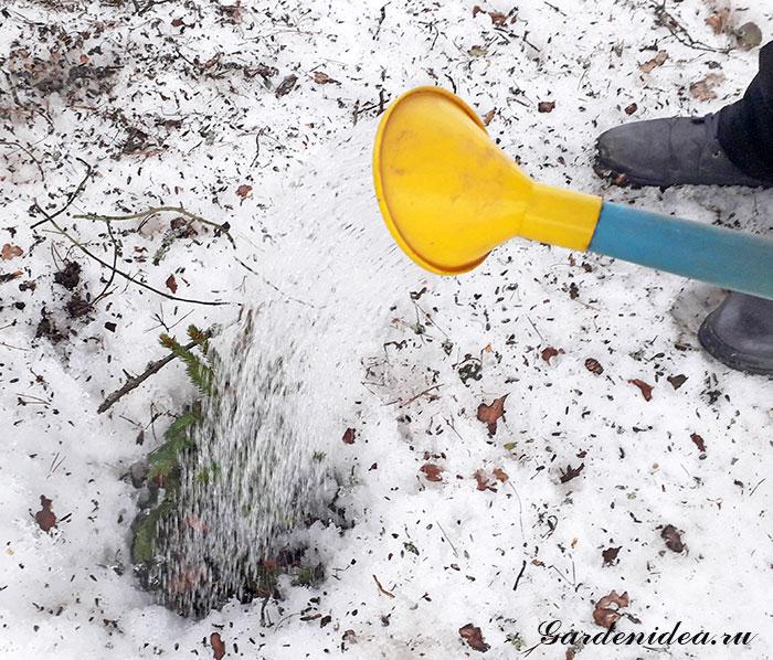 зимний полив