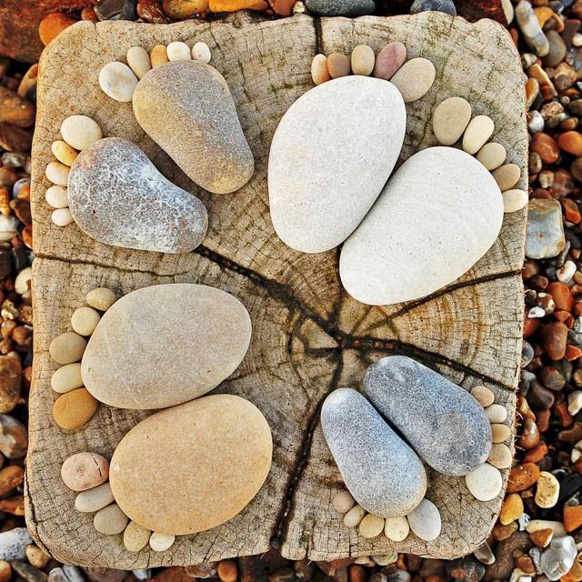 Поделки из камней декор для сада