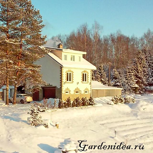 Утепление загородного дома эковатой