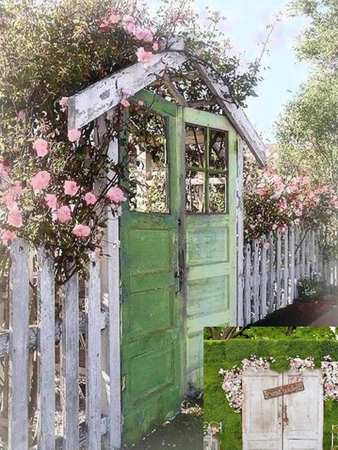 Старые двери теперь садовые